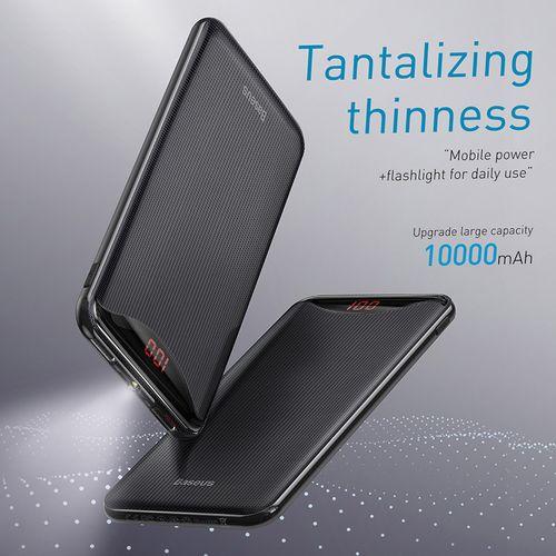 Gentleman Digital Display Dual-USB Powerbank 10000mAh Black