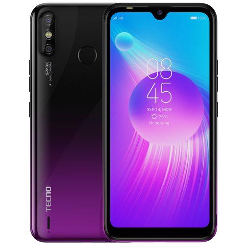 "Spark 4 Air (KC6) 6.1"" HD+, Android 9 Pie, 32GB ROM + 2GB RAM, 13MP Dual Camera, 4G, Fingerprint & Face ID - Purple"