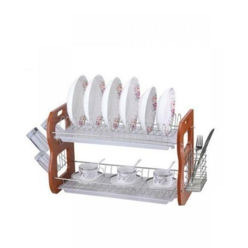 Wooden And Metal Dish Rack
