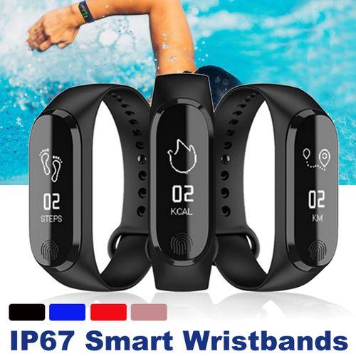 Y13 M4 Smart Wristbands - Black