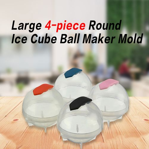 Sphere Mould For Whisky 4pcs 5.5cm Round Ice Ball Maker Ice Mold Kitchen DIY Ice-cream Home Partytail Bar Accessories