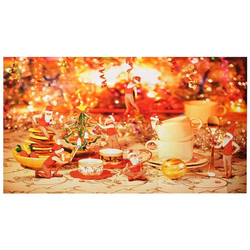 Christmas Dinner Wall Mural Photo Wallpaper Wall Stickers Decor Home Room Decal 430cm*242cm