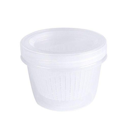 Sealed Round Drain Box Onion Ginger Garlic Kitchen Organizer Food Container Storage Box