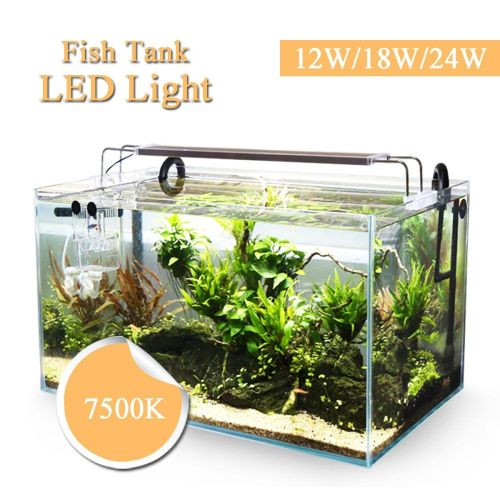 12W/18W/24W Aquatic Aquarium Fish Tank LED Lamp Clip Light Plant Grow 22-51 Cm 12W