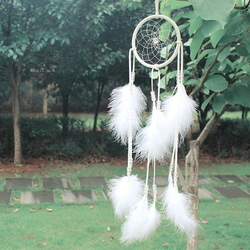 Indian Wind Chime Pure White American Indian Dream Catcher Ornament Welding Decoration
