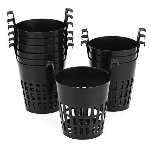 10Pcs Mesh Pot Net Basket Hydroponic Aeroponic Flower Container Plant Grow Pot Cup Planting Baskets