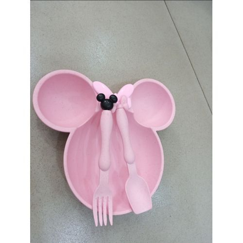 Mickey Mouse Kids Plate And Cutlery Set
