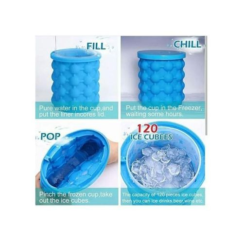 2 Pcs Genie Silicone Ice Cube Maker+Gift