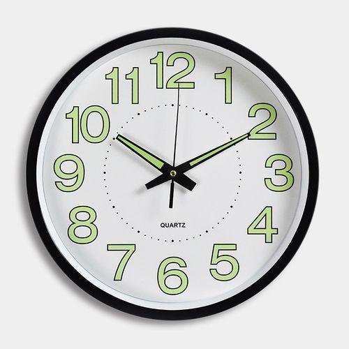Modern 12 Inch(30cm) Circular Night Glow Luminous Wall Clock