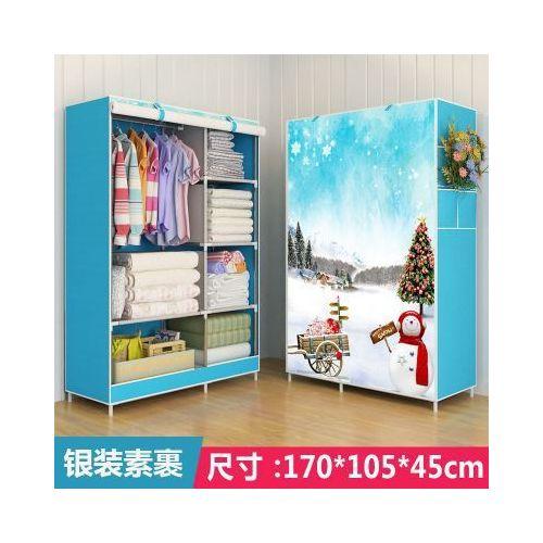 Simple Cloth Wardrobe With Zipper Closet Cabinet