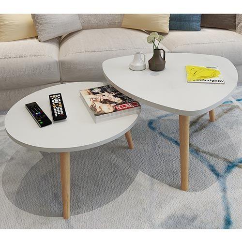 Fard Shapemix Minimalist Coffee Table (2piece Set)-Prepaid Only