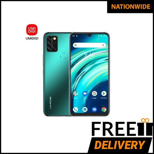 A9 Pro Infrared Temperature Sensor (48MP+16MP+5MP+5MP) +24MP 6.3-Inch (6GB,128GB ROM) Android 10 Smartphone-Forest Green