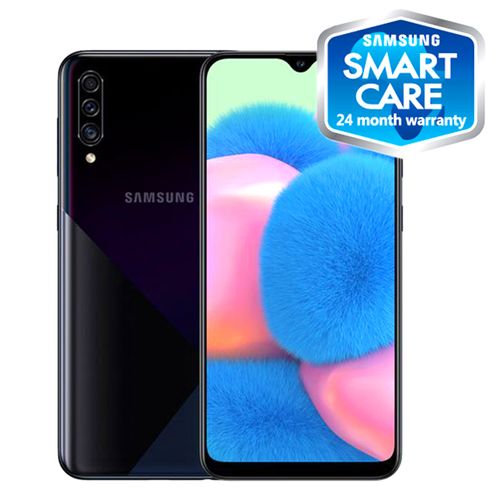 Galaxy A30s 6.4-Inch (4GB,64GB ROM) Android 9.0, (25MP+8MP+5MP)+ 16MP Dual SIM 4000mAh 4G LTE Smartphone - Prism Crush Black (BF19)