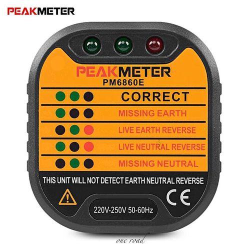 Uk Plug Leakage Test Of Pm6860E 220-250V Socket Tester