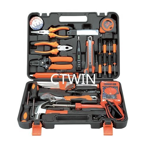 Manufacturers Selling 82 PCS Electrician Section Metal Toolbox Household Hardware Hand Tools Combination Suit Maintenance Tools