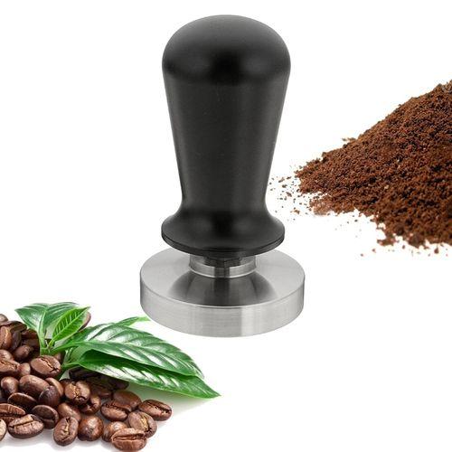 58mm 304 Stainless Steel Coffee Tamper Flat Base Aluminum Handle Pressure 130P