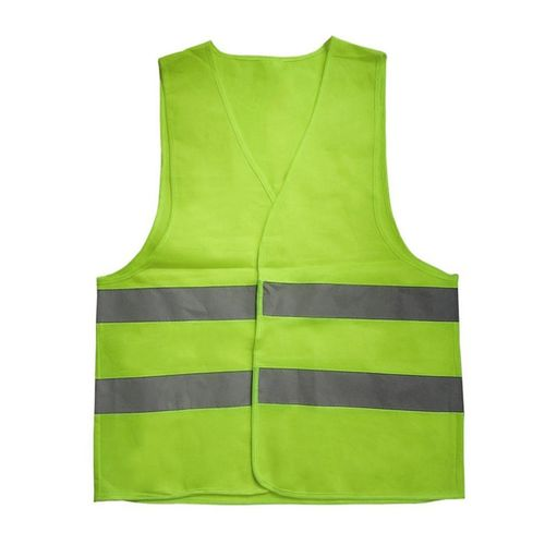 Reflective Warning Vest Working Clothes High Visibility Protective Vest-green-XXXL