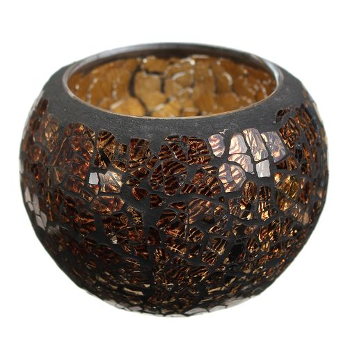 Sparkling Crystal Glass Mosaic Cup Tea Light Candle Holders Wedding Tealight