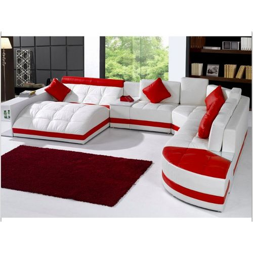 The Priority Couch And Sofa . White And Red Order Now And Get OTTOMAN Free (DELIVERY ONLY IN LAGOS)