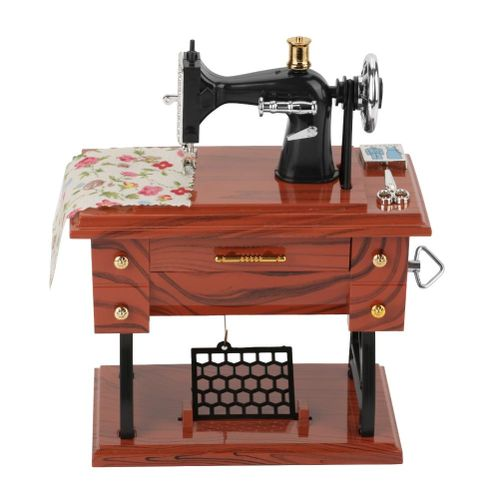 Mini Vintage Creative Retro Sewing Clockwork Music Box Gift Table Decoration