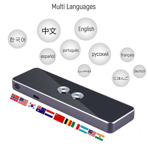 Portable Lightweight Translator 30+ Languages 2-way Instant Translate High Recognition Ability Long-time Use Voice Translation#3 ASQOA