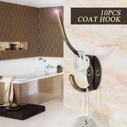 COAT HOOKS WALL MOUNTED DOOR CLOTHES HANGINGS
