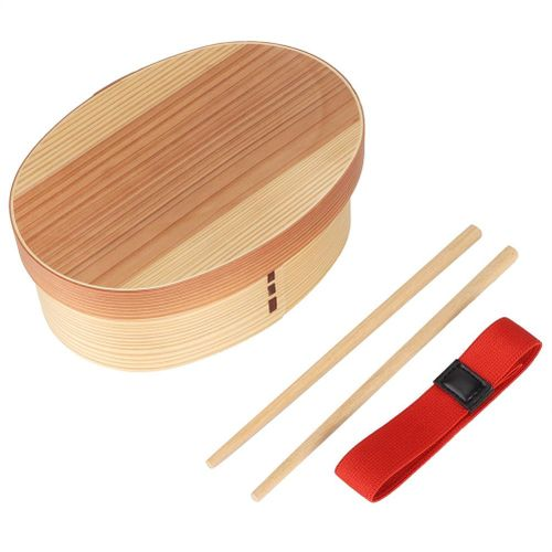 1Layer Bento Box Wood Lunch Box Wooden-Sushi Tableware Bowl Food Container