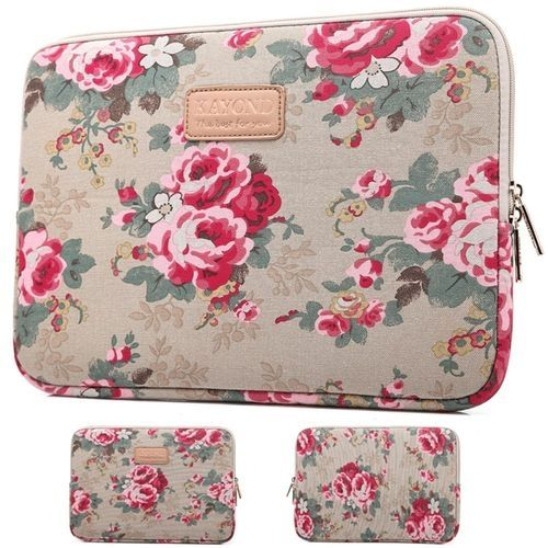 For 13' Apricot Peony MacBook Air/Pro Notebook Laptop Sleeve Case Soft Bag Cover Pouch