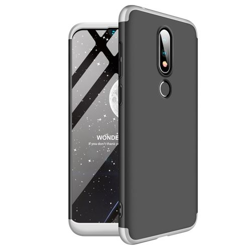 Nokia X6 (2018) / 6.1 Plus 360 Degrees Full Coverage Case (Black+Silver)