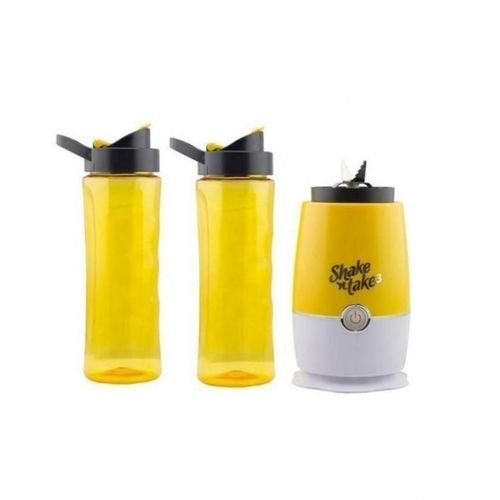 Smoothie Maker And Mini Blender (Two Bottles)- Yellow