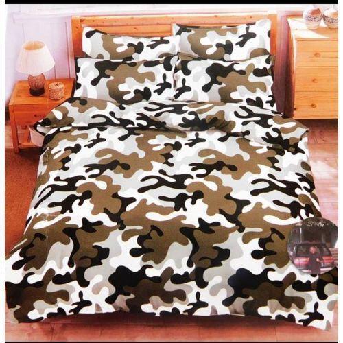 New Duvet + Bedsheet 4 Pillow Case Set