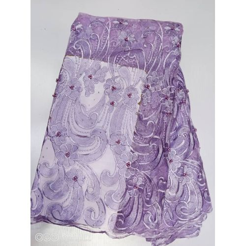 Quality Net-Cord Lace Material - Lilac
