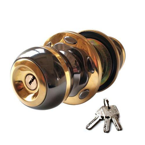 Copper Lock Core Computer Key Indoor Wooden Door Ball Black Golden