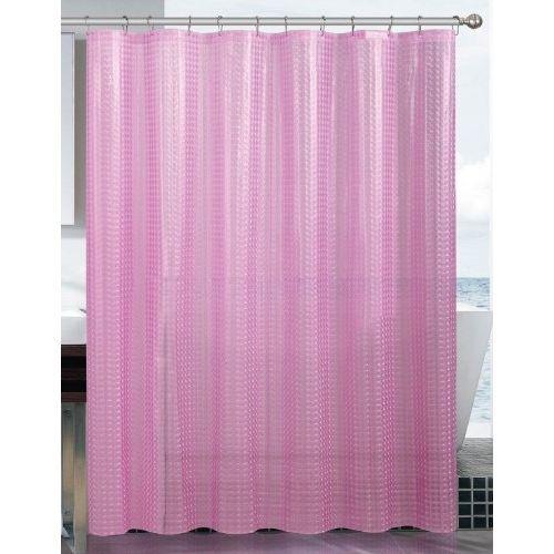 Antifungal Cotton Shower Curtain (Pink)