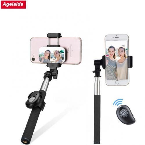 Hand-Held Tripod Selfie Stick With Bluetooth Remote