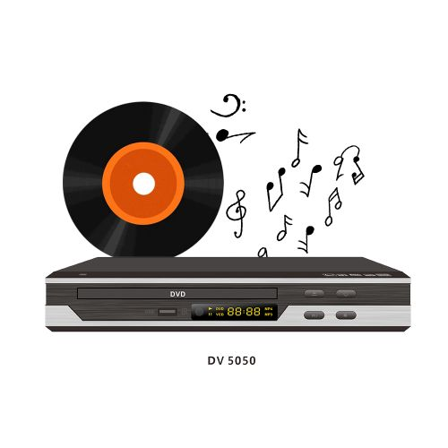 DVD Player Home Video DV5050 With USB-Black