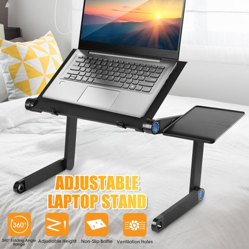 Foldable Adjustable Laptop Desk Computer PC Table Stand