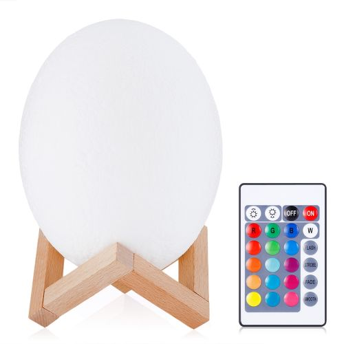 3D Printing Dinosaur Egg Light Night Lamp With Remote Control Bedroom