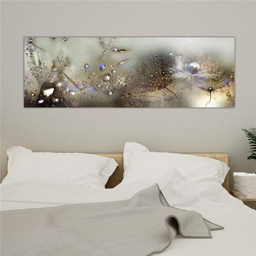 Home Decor Canvas Print Painting Wall Art Dew Beads Dandelion No Frame - 50*150cm
