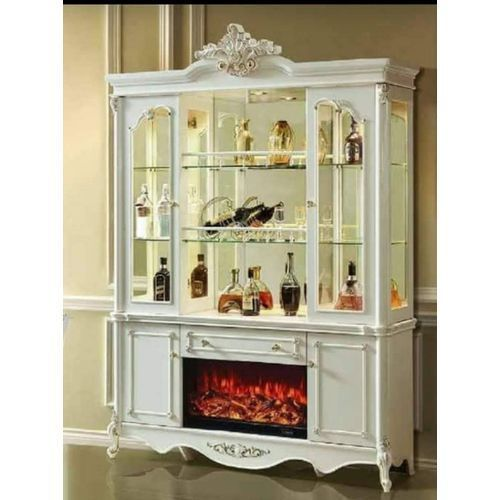 MODERN Royal Luxury Bar WITH ELECTRIC Fire Place(Lagos Delivery Only)