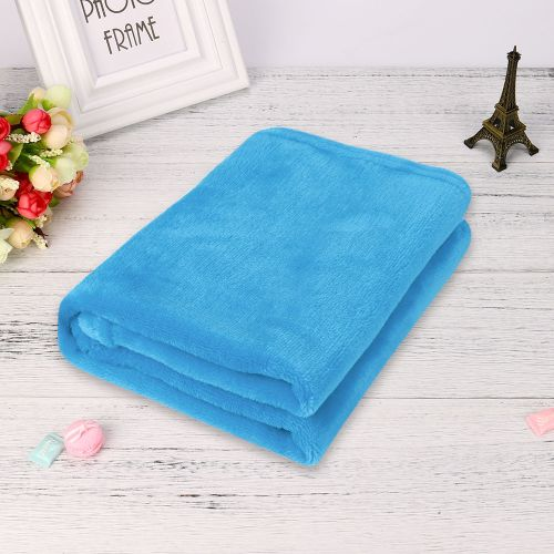 Dtrestocy 45*65CM Fashion Solid Soft Throw Kids Blanket Warm Coral Plaid Blankets Flannel