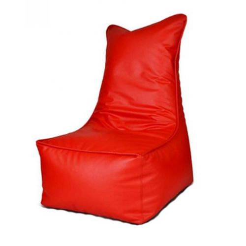 Adult Size Leather Bean Bag Chair - Red (Delivery To Lagos Only)