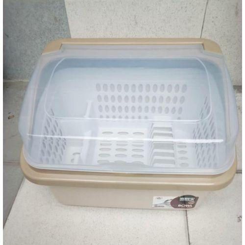 Portable Plastic Table Top Drainer + Cover-multicolor