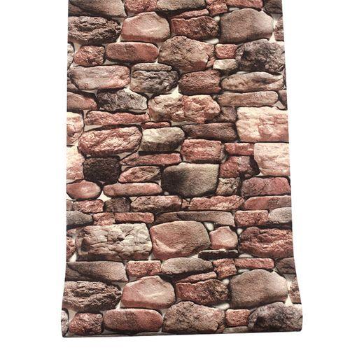 10M 3D Stone Brick Wallpaper Roll Room Bedroom Restaurant Wall Paper 10m X 0.53m
