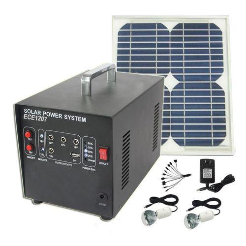 Portable Home Lighting Kit 10w Solar Energy Storage Battery System