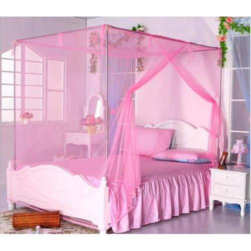 Double Bed Mosquito Net Large Bed Simple Mosquito Net Pink