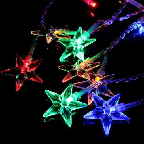 3.5M 100LED Five-Pointed Star LED String Curtain Lights Xmas Wedding Decor Lamps