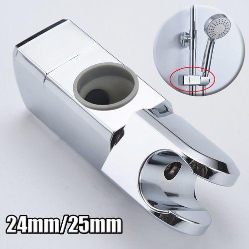 24mm/25mm ABS Chrome Shower Rail Head Slider Holder Bracket