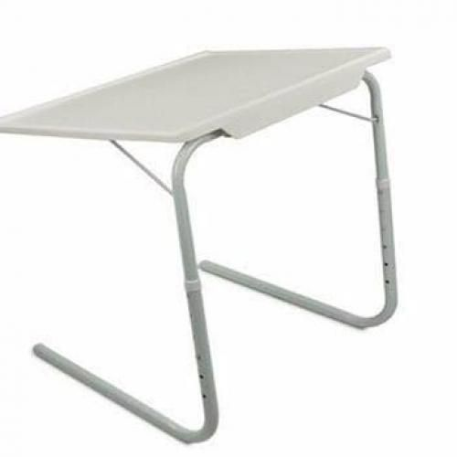Adjustable Tablemate With Cup Holder- White