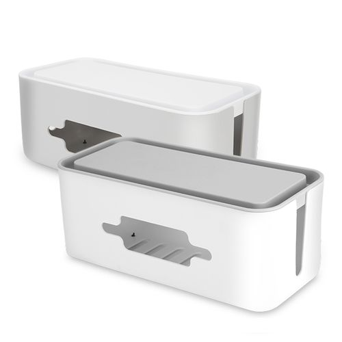 BUBM JXH Cable Organizer Management Box Power Cord Wire Storage Box Power Strip For USB Cables HDMI